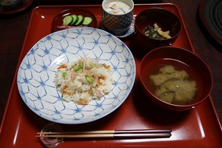 今日の精進ちらし寿司.JPG