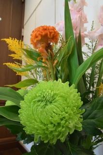 活け花の菊とケイトウ.jpg