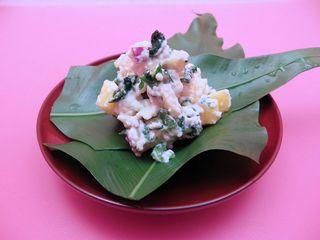 秋の白和え 柿、くり、さつま芋、春菊-1.jpg