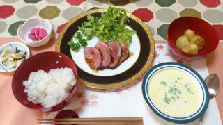 鴨のロースト 蕪のスープ.JPG